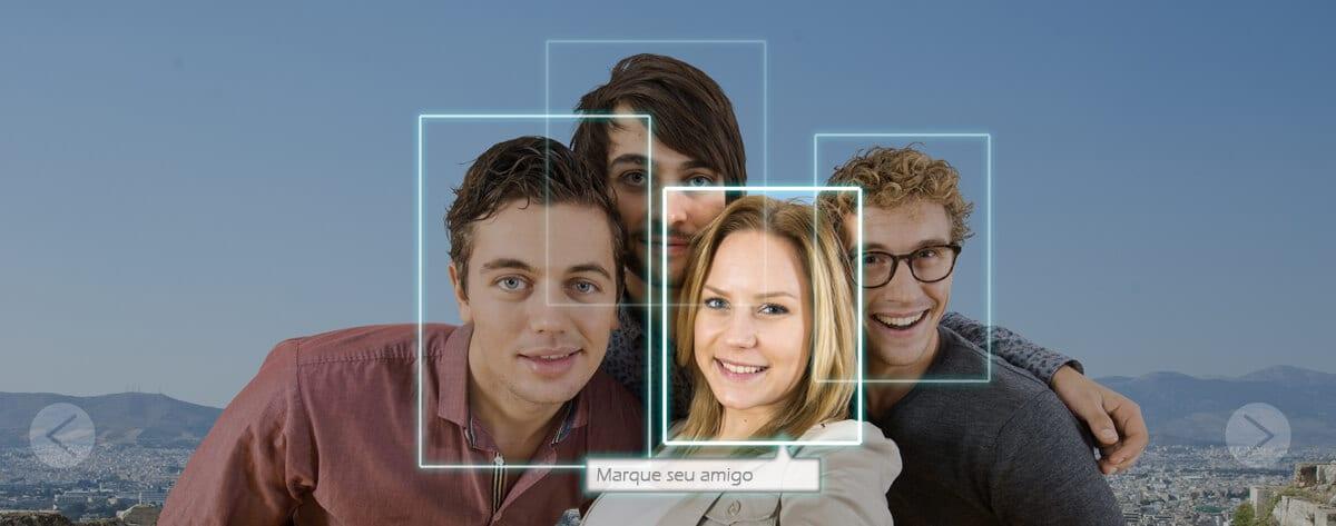 Biometria facial em celulares, computadores, câmeras