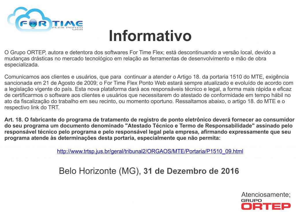 Informativo For Time Flex (Descontinuado)