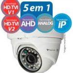 Câmera Dome TecVoz Flex 5 em 1 HD-TVI IR 25mts. 1.0mp