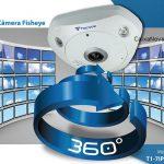 Câmera IP Fisheye Tecvoz 360º IR 10Mts 3MP.